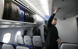 Overhead luggage
