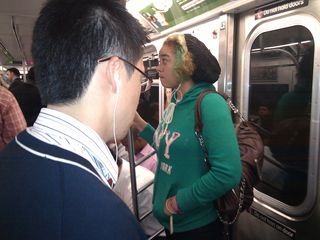 Headphones subway