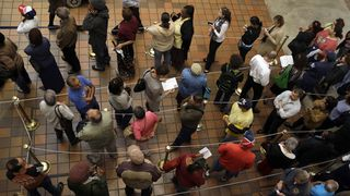 VOTERS IN LINE 2