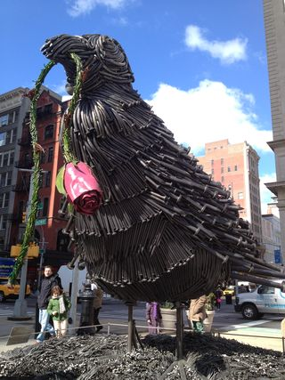Bird, made of Nails